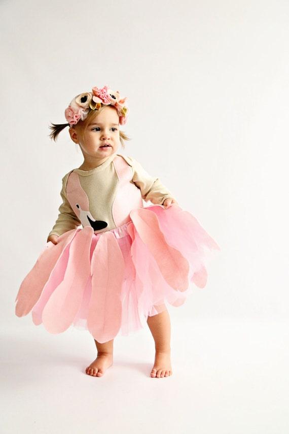 Mädchen-Flamingo Tutu-Halloween-Kostüm Kostüm Kinder