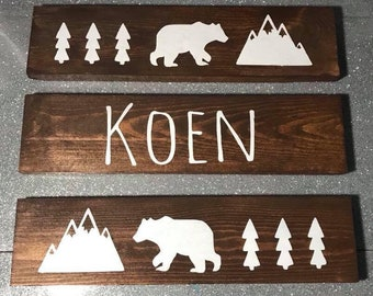 woodland name wood signs