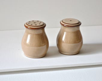 Denby viceroy salt and pepper shakers. Classic vintage ceramics in perfect condition