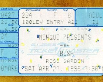 BUSH  Concert Ticket Stub, Portland, OR 1996