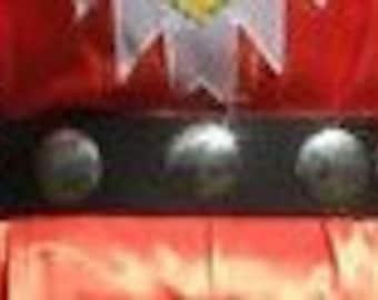 6 Conchos, 3 Inch Tiny Tot Powwow Belt