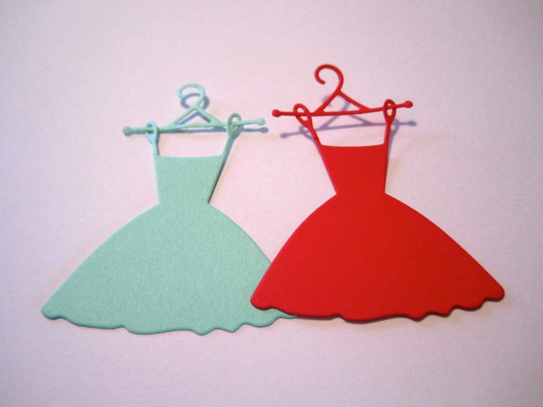 20 Paper Wedding Dress Die Cut, Bridesmaid Dress Cut Out, Bridal ...