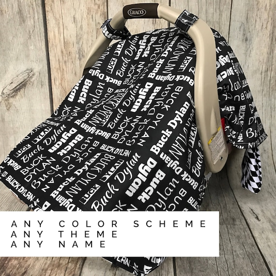 Custom car seat canopy personalized baby gift baby shower negle Gallery