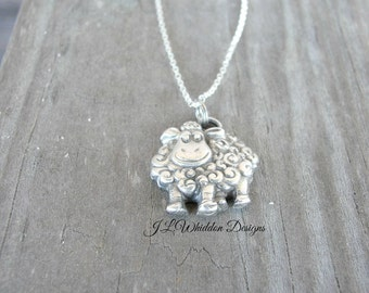 Sterling Silver Sheep Necklace - Sheep Necklace -Sheep Gifts - Farm Animal Necklace - Sheep Farm Gifts - Animal Necklace