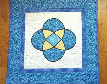 Stained glass Quilt Wall Hanging Hand Quilted