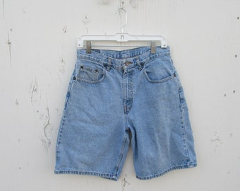 1990s High Waist Denim Shorts, HIgh Waisted Jean Shorts 80s 1980s 1990s Vintage Denim Shorts, Mom Jeans 30 Waist