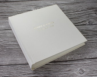 Personalised Ivory Linen Photo Album - 5 Sizes Available