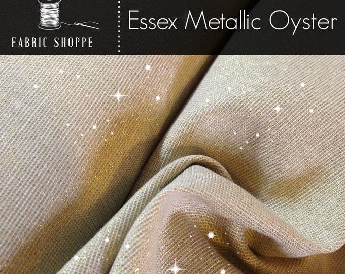 Metallic fabric, Silver Sparkle Fabric, Gorgeous Shimmer, Essex Linen, Apparel, Wedding fabric, Robert Kaufman, Metallic Essex in Oyster