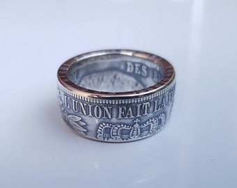 Ring coin 5 francs Leopold Silver (coin ring)