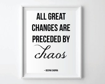 All Great Changes Quote