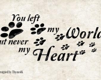 Download Pet memorial svg | Etsy