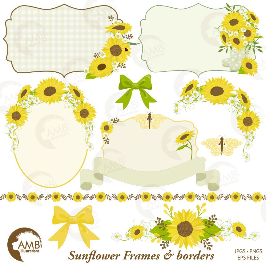 zoom - Sunflower Picture Frames