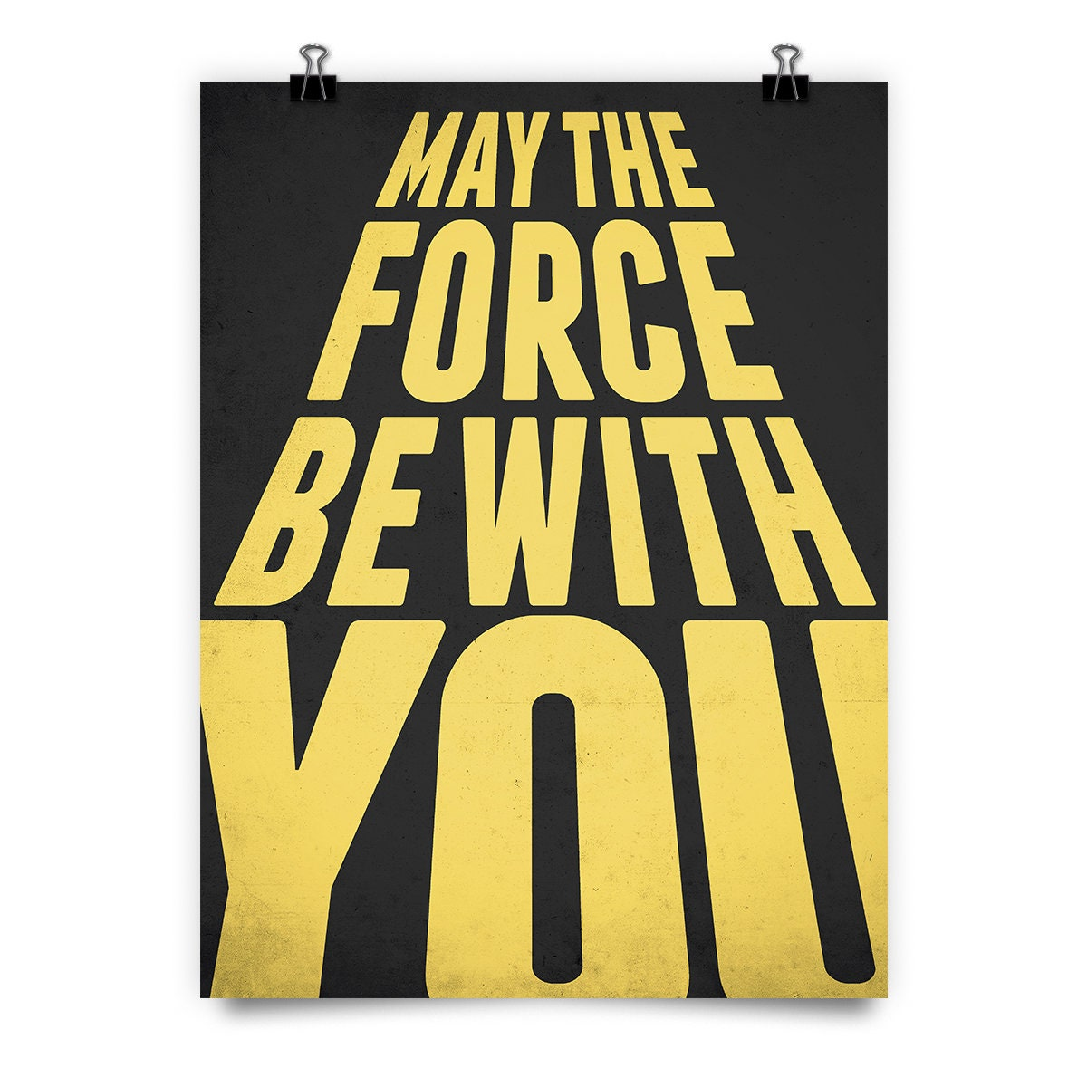 May The Force Be with you print, Best friend gift, Star wars bedroom, Star wars poster, Wall decor, Star wars decor, Movie poster