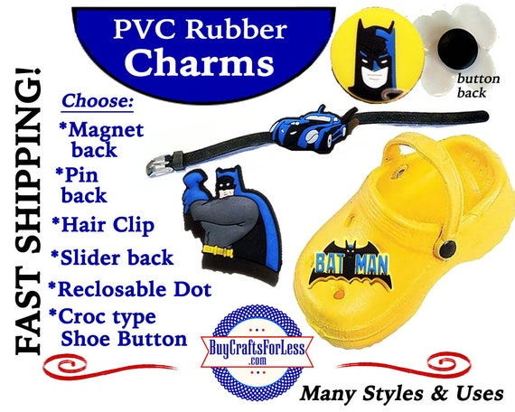 PVC Charms, SUPeR HeRO * 20% OFF Any 4 PvC Charms+ShipFREE *Choose back-Button, Pin, Slider, Hair Clip, Reclosable Dot, Magnet