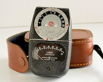 GE Exposure Meter with Leather Case