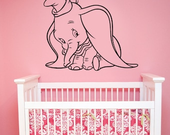 Dumbo Wall Decal Vinyl Sticker Disney Movie Art Decorations for Home Childrens Baby Room Nursery Decor dumb5