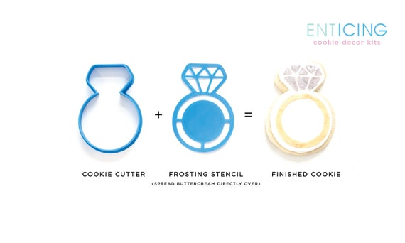 entICING Cookie Decor Kit : Wedding or Engagement Ring Cookie Cutter ...