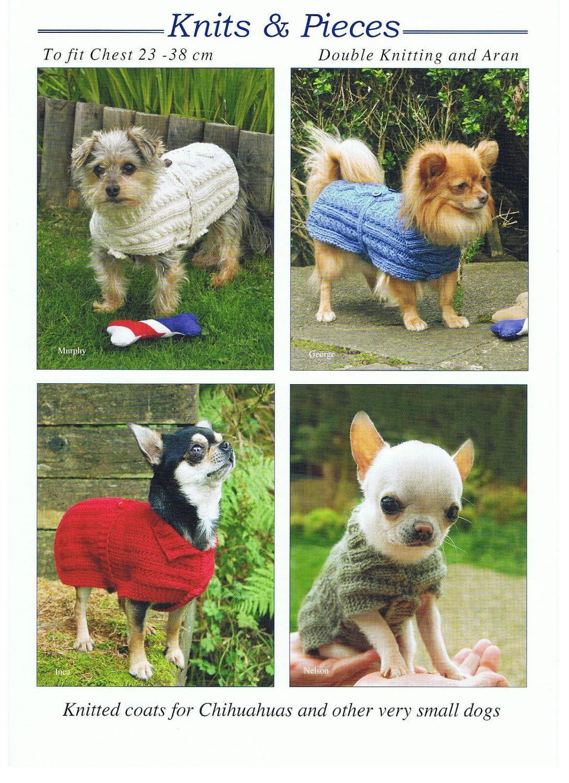Knitting Pattern for Dog Coat , Dog Sweater ,Very Small Dog Coat ...