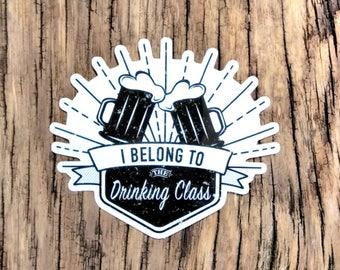 Drinking Class Vinyl Sticker