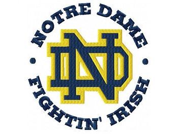 Notre Dame Fighting Irish Machine Embroidery Digital Download