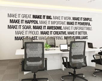 Office Wall Art   Corporate   Office Supplies   Office Decor   Office Art    Typography