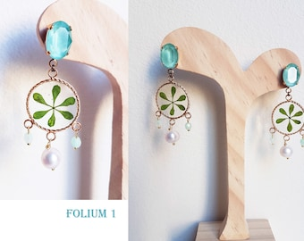 Nature earrings - real flower! unique pieces