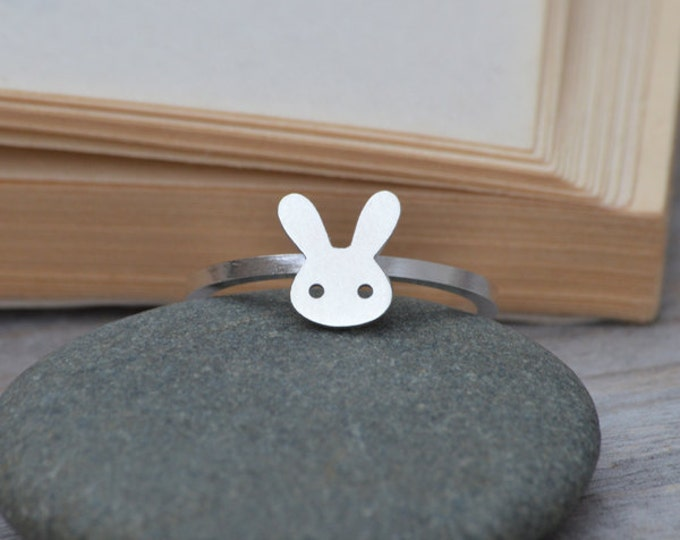 Bunny Rabbit Ring In Sterling Silver, Handmade In England
