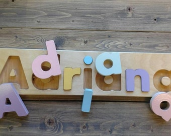 Child's name puzzle, personalized name puzzle, christmas gift , toddler puzzle, Pre-K,andchildren gift, boy puzzle, girl name puzzle