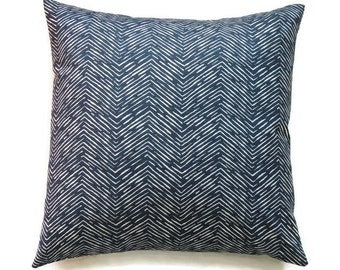 Blue Pillow Cover, 18x18 Pillow Cover, Navy Accent Decorative Pillows, Cushion Cover, Nautical, Home Decor, Cameron Premier Navy