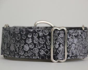 "Whippet Grey and Silver 1.5"" Martingale Collar"