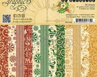 Graphic 45-St. Nicholas-6x6 Paper Pad