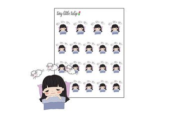 Planner Stickers Doodle Girl Insomnia