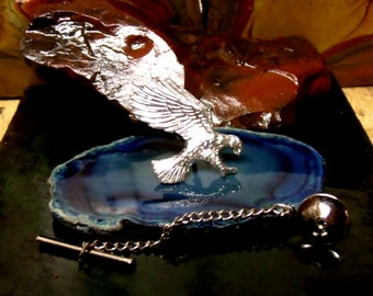 Eagle Tie Tack Sterling Silver Free Domestic Shipping