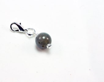 Genuine Stone Charm. Natural Labordite  Stone Charm for Bracelet. Custom Charm for Charm Bracelet. SCC398