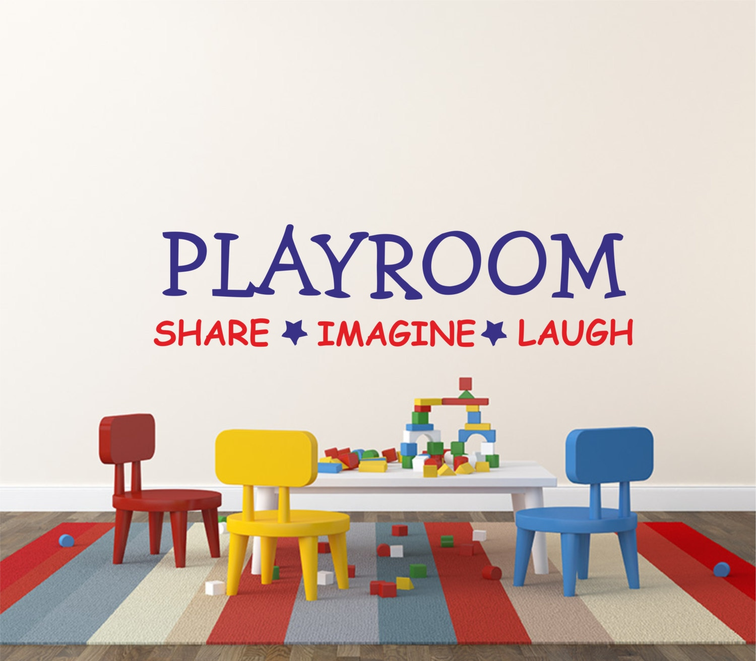 Kids wall decal playroom share imagine laugh wall sticker zoom amipublicfo Images