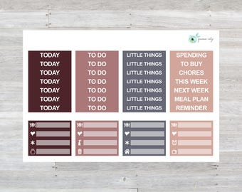 Sweater Weather Headers Planner Stickers