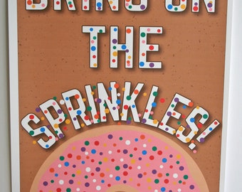 Donut party poster // sprinkles party // sprinkle shower poster // doughnut party // donut party decor // frosted donuts