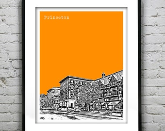Princeton New Jersey Poster Print Art NJ