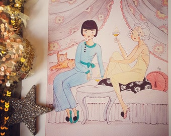 Champagne and Gossip, 10x8 with a little give, Epson Matte Art Print...