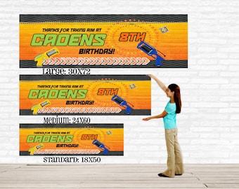 Dart Gun Birthday Banner