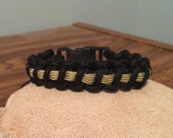 Dispatcher Thin Gold  Line Paracord Bracelet