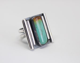 Sterling Silver and Natural  Roystone Turquoise Ring - Size 10- One of a Kind