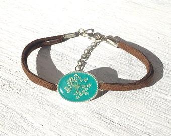 boho bracelet, boho jewelry ideas, real flower jewelry, best friend bracelet with real flowers, friendship bracelet, boho chic bff gift