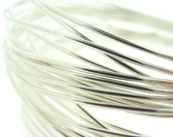 16 Gauge 15feet (5y) SILVER Non Tarnish Permanently Colored Enameled craft Wire 1.2mm