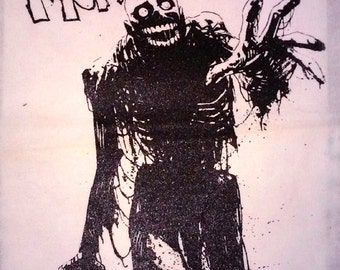BACK PATCH- Tarman canvas HORROR - Return of the Living Dead, More Brains Zombie