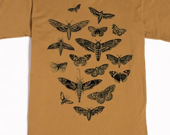 Moth Shirt - Men's Insect Tshirt - Moths and Butterflies T-shirt - Graphic tee