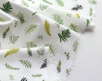 Ferns Cotton Fabric, Leaf Fabric - By the Yard 104449
