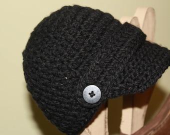 Newsboy Hat, crochet hat, Boys Hat, Girls Hat, winter hat, newsboy cap, hats and caps, photography prop, women's hat