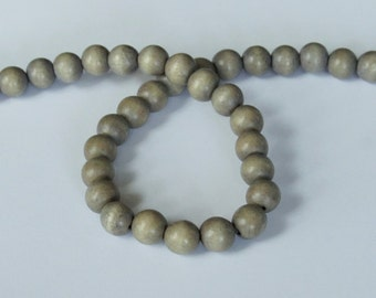 Gray Wood Beads, Round Wood Beads, 12mm, Lightweight Beads, Fast Shipping from USA