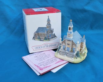 Vintage Christmas Village Church of the Epiphany, 1997 Liberty Falls Building Figurine